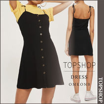 【国内発送・関税込】TOPSHOP★Button Through Ribbed MiniDress