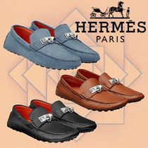 HERMES 2018-19AW Mocassins Irving モカシン レザー
