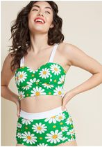 modcloth(モドクロス) ビキニ banned sun more time bustier bikini top in green