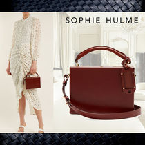 SALE**SOPHIE HULME**★Albany leather cross-body bag★バッグ