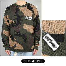2018AW Off-White CAMOU SWEATER ALL OVER NO COLOR 国内発