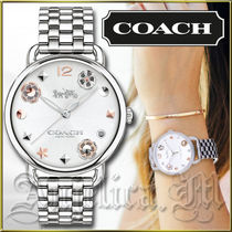 ★安心ヤマト便★Coach Delancey White Dial Watch 14502810