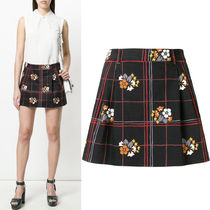 MM498 PRINTED COTTON MINI SKIRT