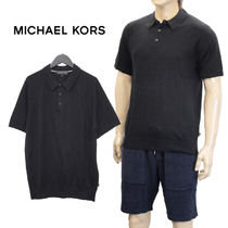 MICHAEL KORS MEN'S サマーニット ポロシャツ CF76KBS2MB-BLACK