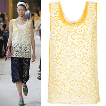 MM499 LOOK33 TECHNICAL MACRAME LACE TOP