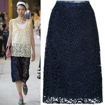 MM500 LOOK33 TECHNICAL MACRAME LACE SKIRT