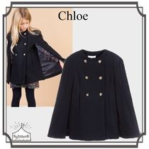大人もOK!Chloe☆Girls Navy Wool ケープ 6-14year