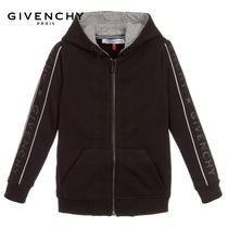 New▼GIVENCHYKids▼サイドロゴパーカー 黒 6~12Y [関税込]
