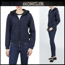 【MONCLER】ロゴパッチ フードジップアップパーカーNAVY/追跡付