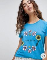 DAISY STREET(デイジーストリート) Tシャツ・カットソー Daisy Street relaxed t-shirt with love struck graphic