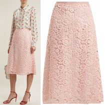 MM503 TECHNICAL MACRAME LACE SKIRT
