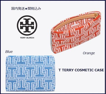 Tory Burch メイクポーチ 国内発送★Tory Burch T TERRY コスメポーチ