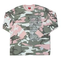 Supreme SS18 Stacked L/S Top ピンクカモ (ステッカー付き)