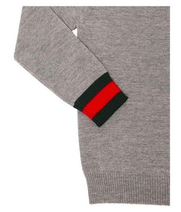 GUCCI キッズ用トップス 大人OK★GUCCI★2018AW★Vネックセーター★2色展開★10/12Y(8)