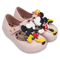 Mickey and Minnie Mouse Kissing Mary Jane Flats for Kids