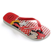 Minnie Mouse Striped Flip Flops for Women by Havaianas