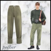 【LOEWE】Patch Pocket Trousers カーキー