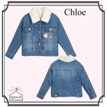 Chloe☆GirlsデニムJacket withファージレ 3-5year