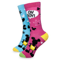 Mickey Mouse ''Oh Boy!'' Crew Socks for Adults