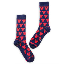 Mickey Mouse Navy and Red Socks - Adults