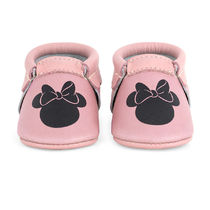 Minnie Mouse Icon Moccasins for Baby by Freshly Picked
