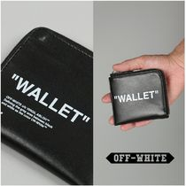 Off-White QUOTE COIN PURSE ブラック/ホワイト 国内発