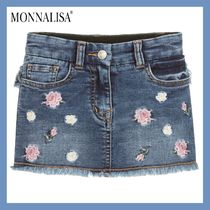 MONNALISA★Blue Denim スカート★4-11Y 関税込