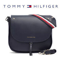 【TOMMY HILFIGER】ロゴ入り クロスボディバッグ tommy navy