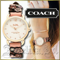 ★安心ヤマト便★Coach Delancey Gold Dial Watch 14502817