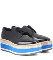 Wingtip platform leather brogues エスパドリーユ ブローグ