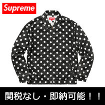 即納国内発送 Supreme POLKA DOT RAYON WORK JACKET シュプ
