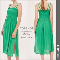 【国内発送・関税込】TOPSHOP★Shirred Trim Midi Dress