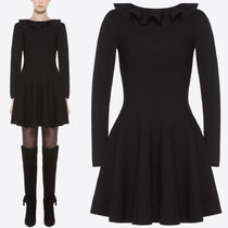 18-19AW V1090 RUFFLED KNIT DRESS
