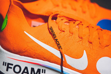 "Nike スニーカー 【Nike×OFF-WHITE】限定 Zoom Fly Mercurial ""Total Orange""(7)"