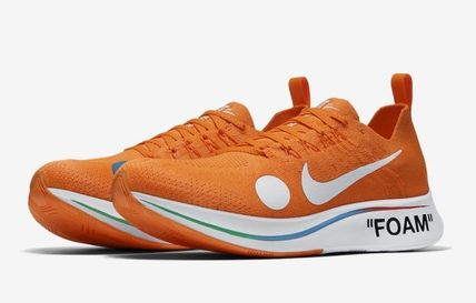 "Nike スニーカー 【Nike×OFF-WHITE】限定 Zoom Fly Mercurial ""Total Orange""(10)"