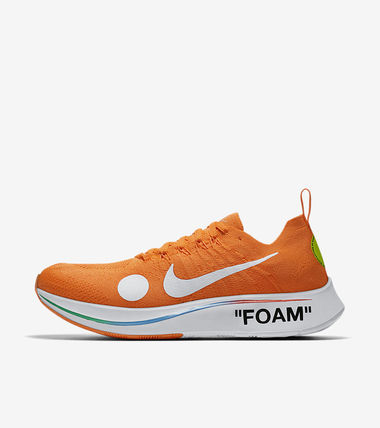 "Nike スニーカー 【Nike×OFF-WHITE】限定 Zoom Fly Mercurial ""Total Orange""(15)"