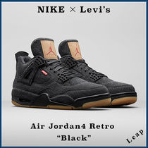 "【Nike】入手困難コラボ Levi's × Air Jordan 4 Retro ""Black"""
