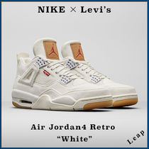 "【Nike】入手困難コラボ Levi's × Air Jordan 4 Retro ""White"""