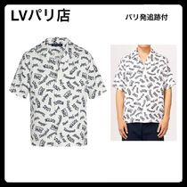 【Louis Vuittonパリ店】シルク ハワイアン半袖シャツ追跡付