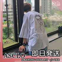 ASCLO★韓国の人気★MEN'S DRAWING OVER FIT TEE 2色