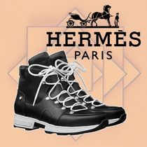 HERMES 2018-19AW Bottines Pionnier アンクルブーツ カーフ