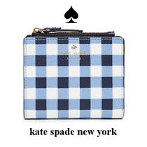 【2018春夏】Kate Spade NY hyde lane gingham wallet