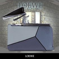 LOEWE Puzzle Coin&Card Leather holder ブルー 関税送料込み