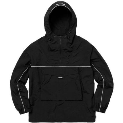 完売品 Supreme Hooded Logo split anorak シュプリーム