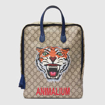 18SS Children's GG tiger and Animalium backpack
