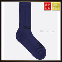 【バレンシアガ】Logo Intarsia Terry Socks Blue And Black