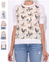 CARVEN Short Sleeve Rooster Sweater トップス セール