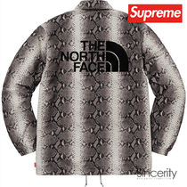TNF SNAKESKIN TAPED SEAM COACHES JACKET / BLACK / MEDIUM