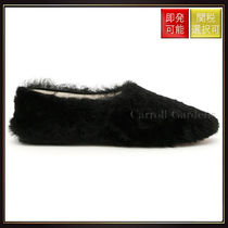 【セリーヌ】Shearling Ballerinas Black