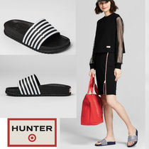 Hunter for Target 大人も履ける! Striped Slide Sandals Black